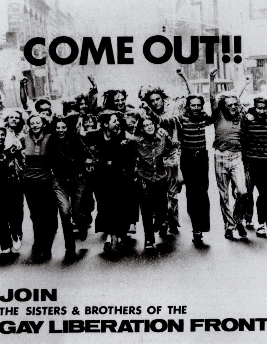Come Out! - Gay Liberation 1970 poster (first pride parade)