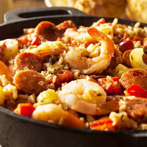High Quality Organics Express jambalaya with shrimp and sausage