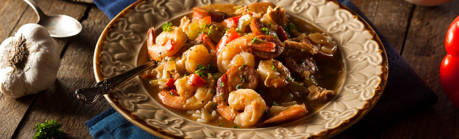High Quality Organics Express Cajun Food shrimp gumbo