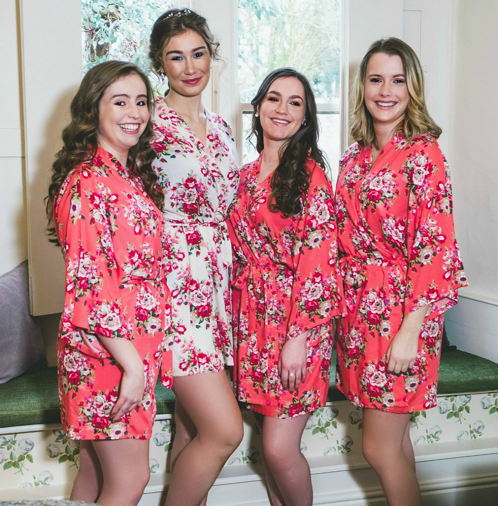 special section numerousinvariety original Matching Bride Dressing Gowns for the Wedding Morning – THE ...