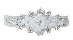 flora wedding dress belt