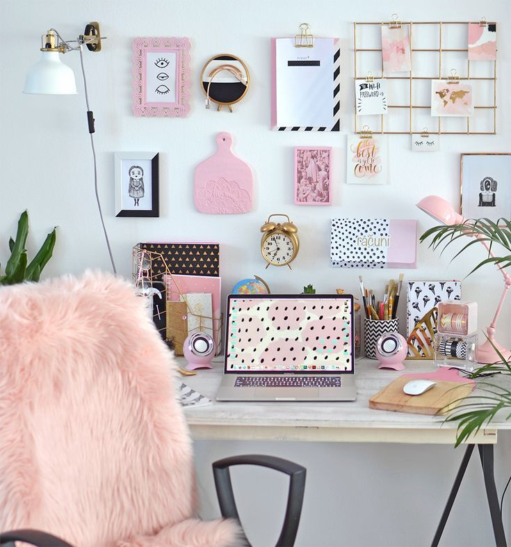 Pink Desk Space - Iconic Style Inc