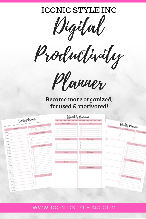 Productivity Planner - Iconic Style Inc