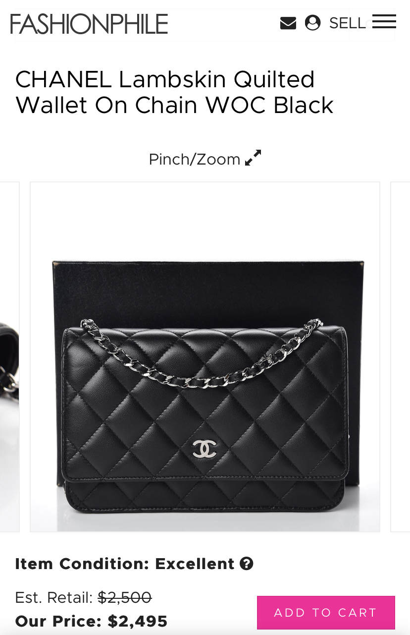 Chanel WOC Wallet on Chain- Iconic Style INC