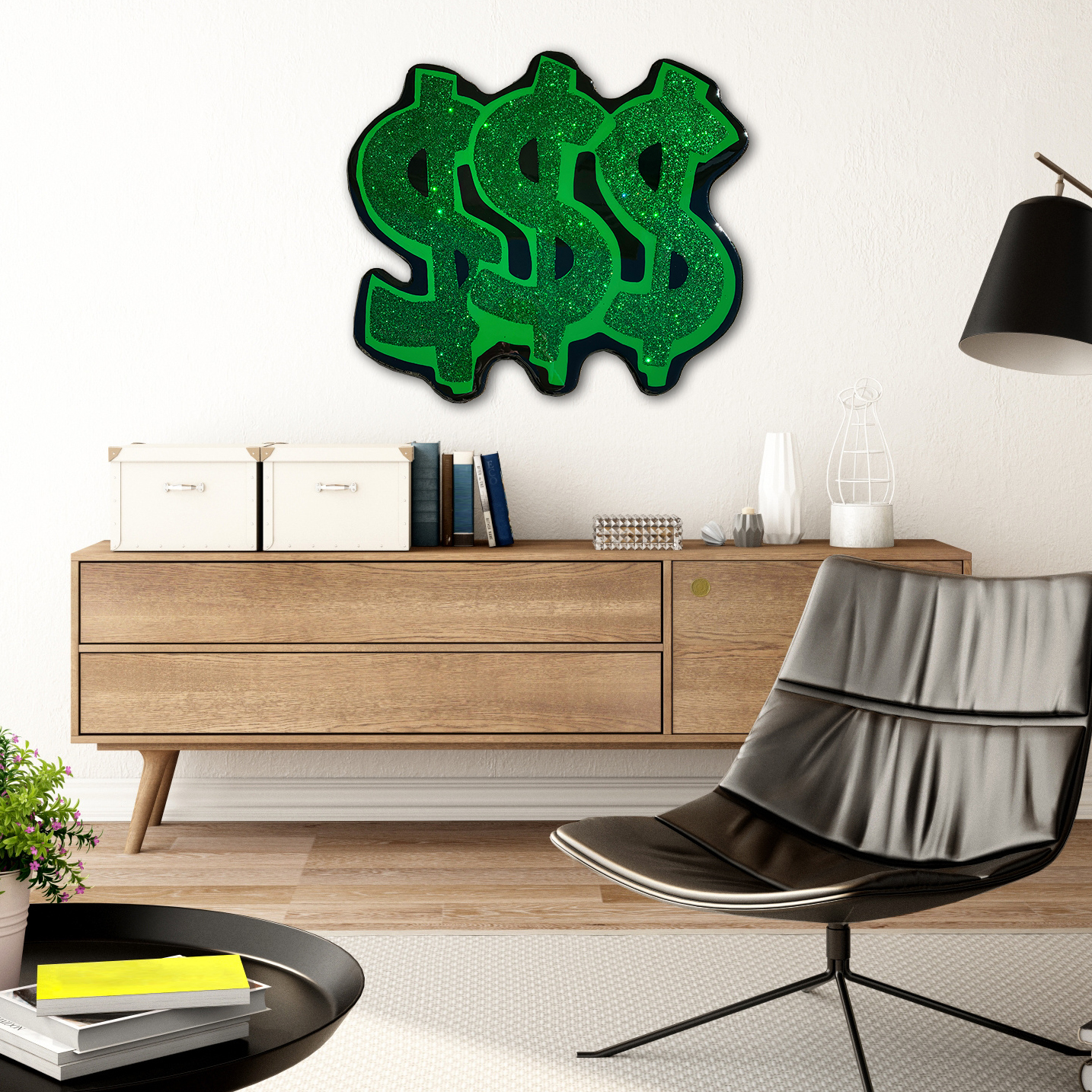 Money Wall Art On Wood