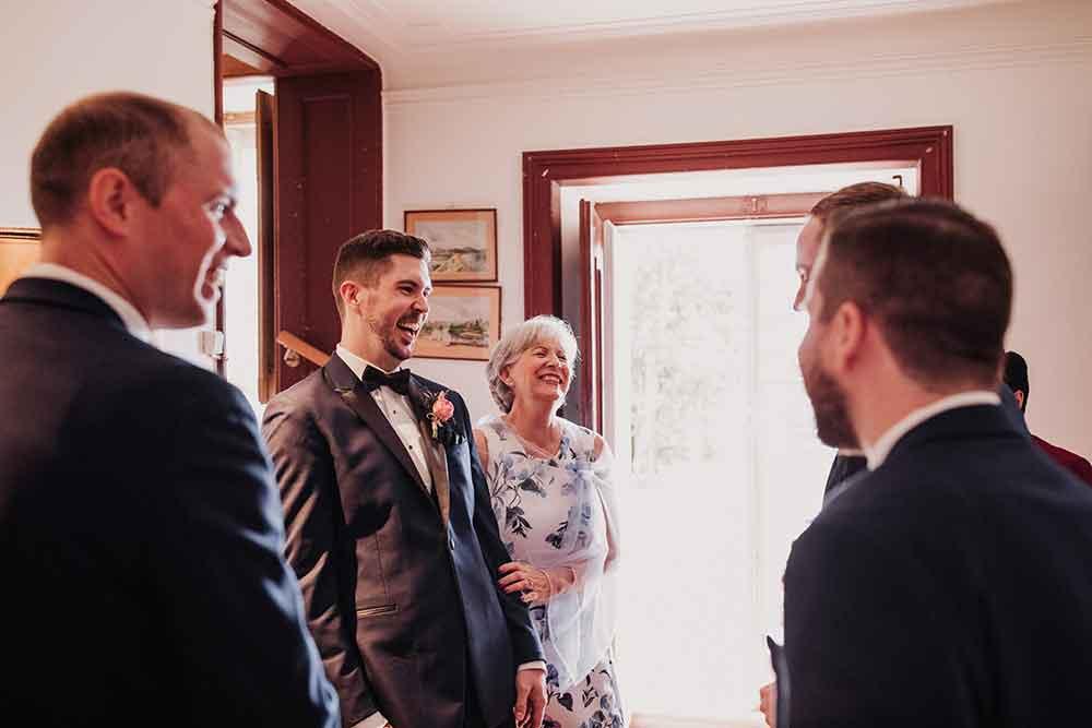 foto de familia del novio
