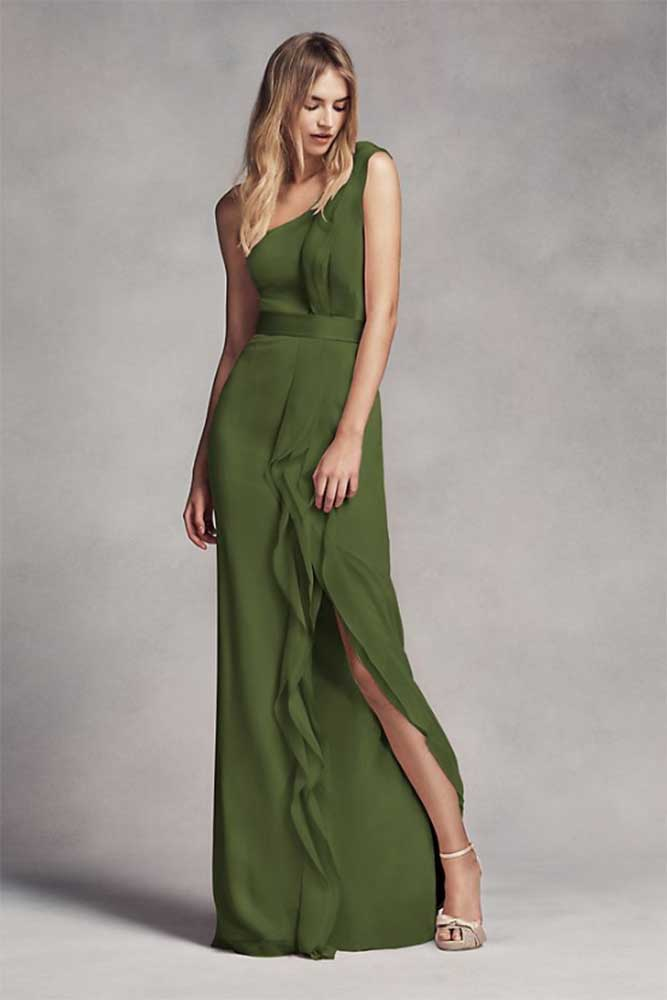 floor length bridesmaid dress