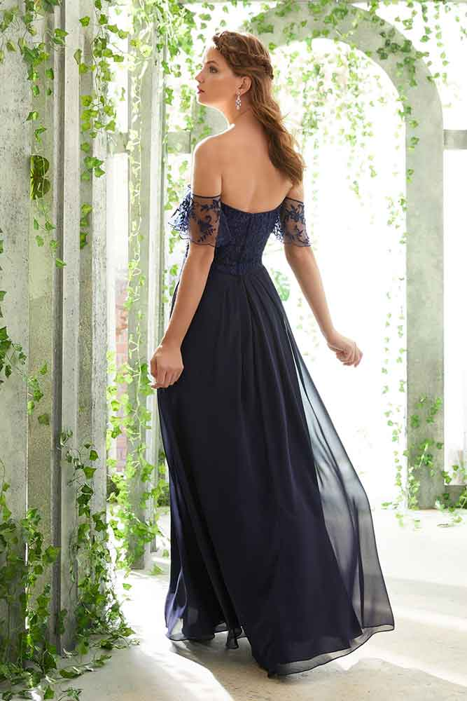romantic chiffon bridesmaid dress