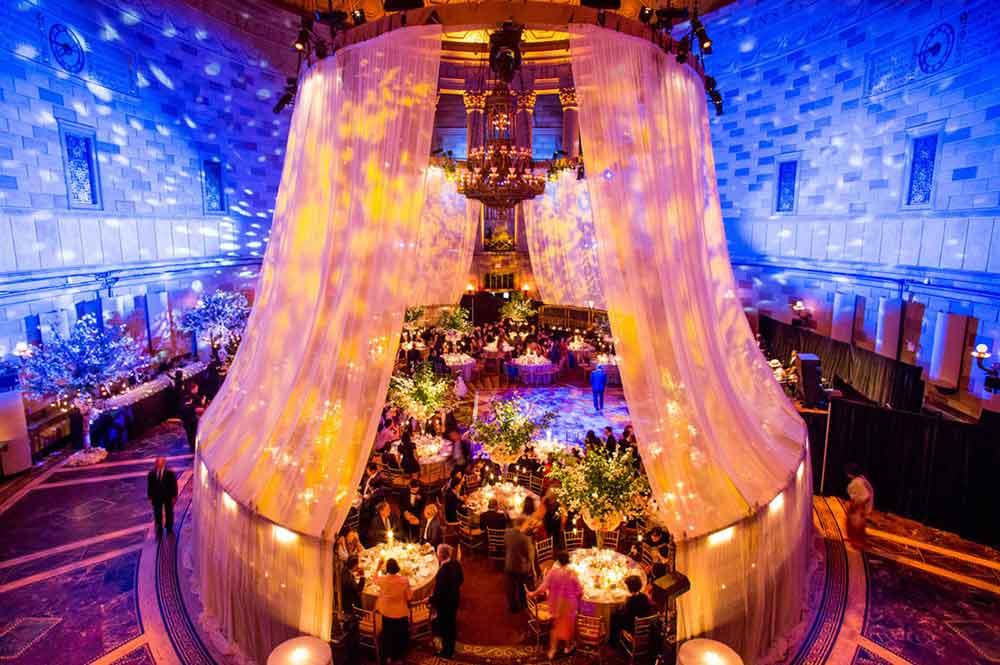 LED Light Display at Wedding