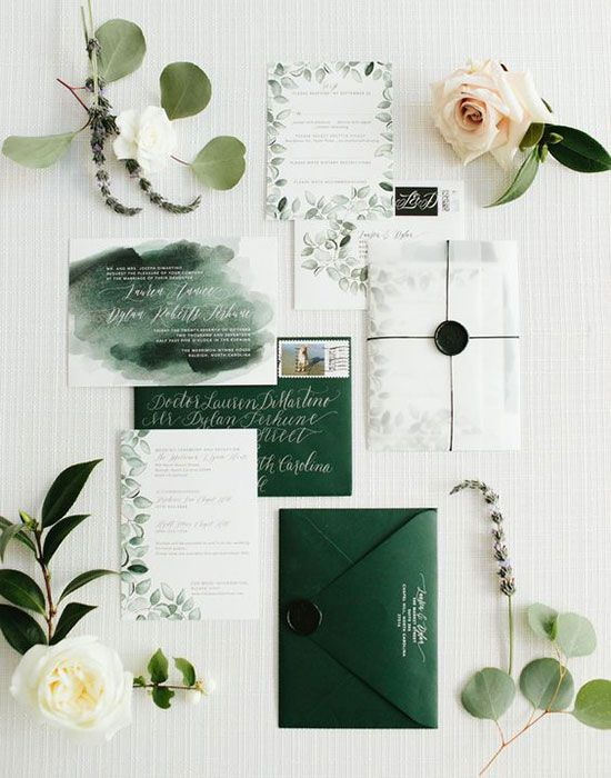 Watercolor Wedding Invitation Suite