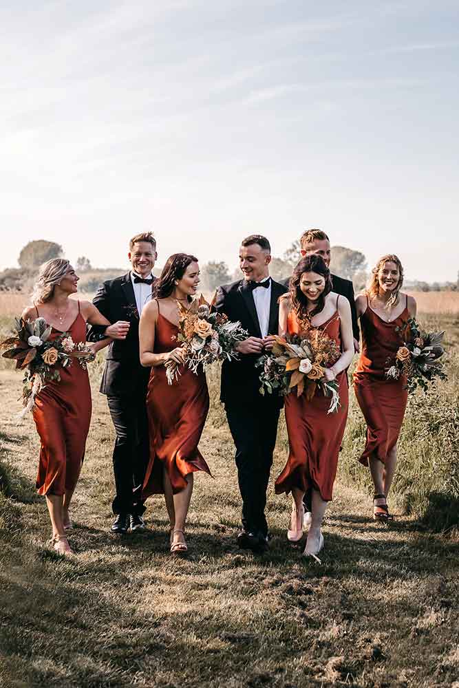 silk slip bridesmaid dresses