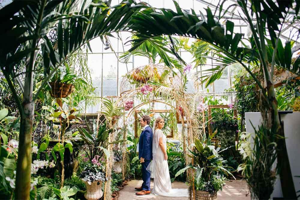 botanical garden wedding theme
