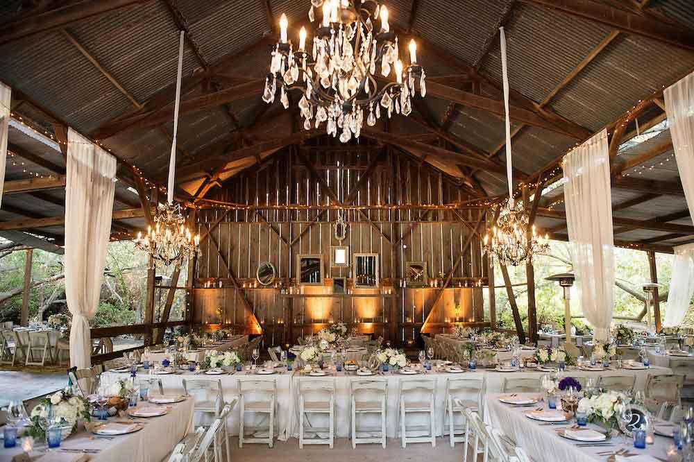 rustic wedding theme in barn