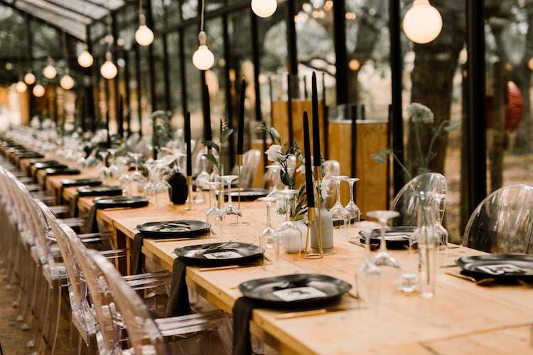 modern wedding decor theme