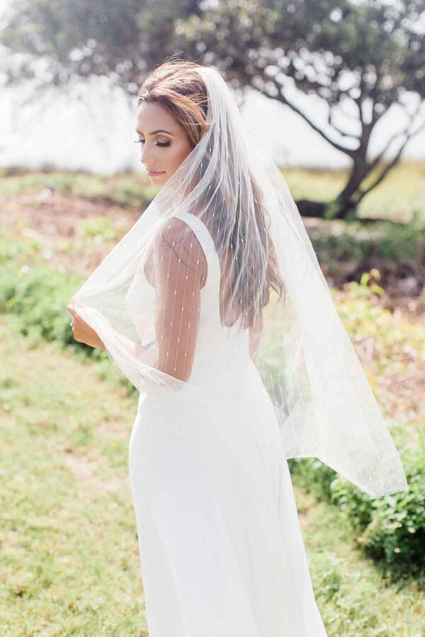 celestial bridal veil by Mauve et Blush