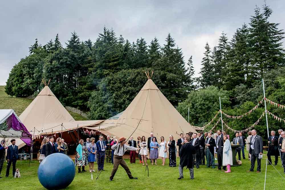 Festival Themed Wedding Reception