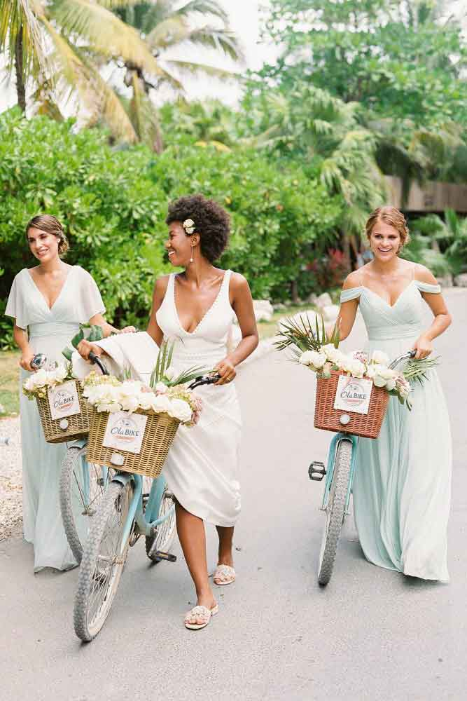 flowy chiffon bridesmaid dresses for the beach