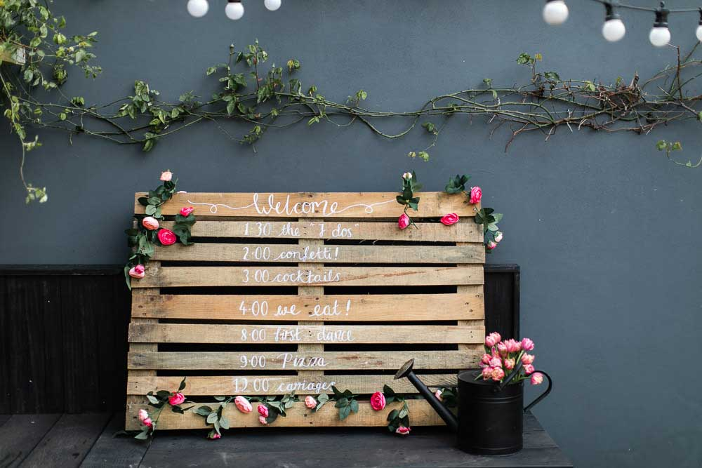 DIY Wedding Wood Sign