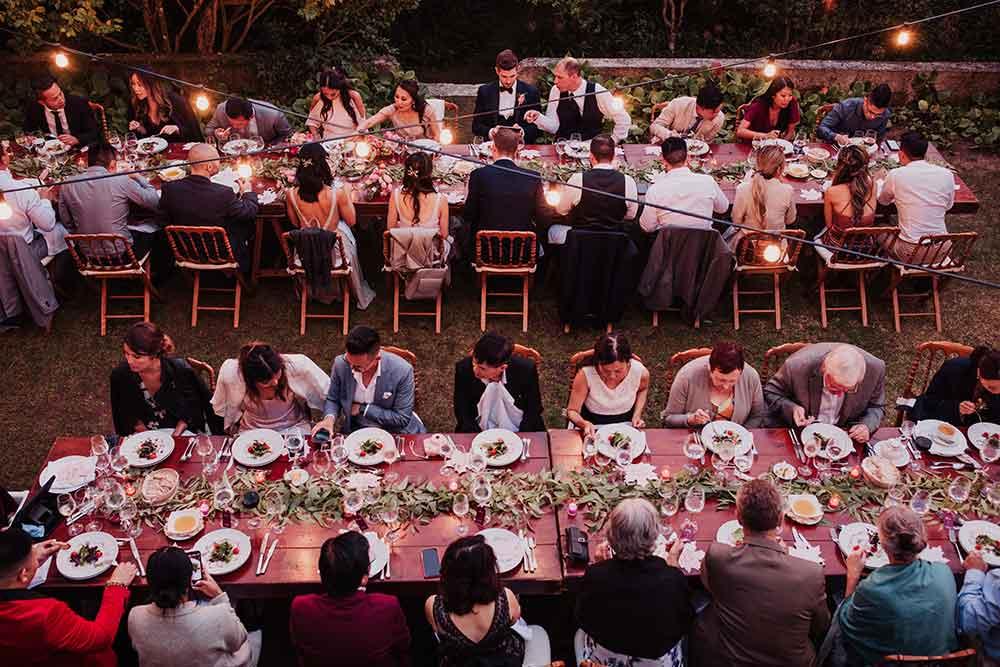 decoración de la mesa de recepción de boda