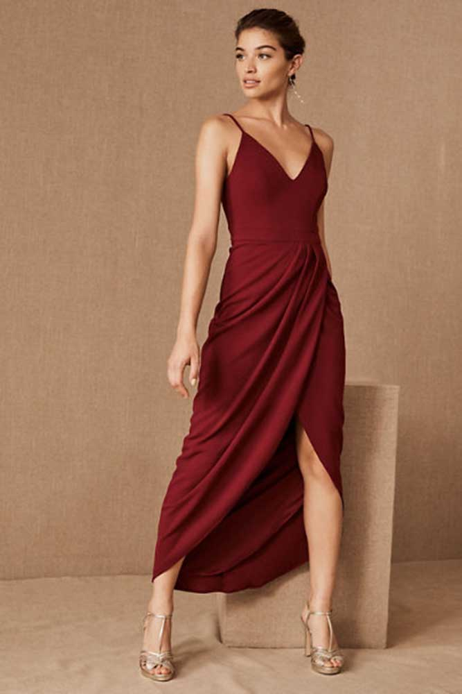 tea length bridesmaid dress from Anthropologie