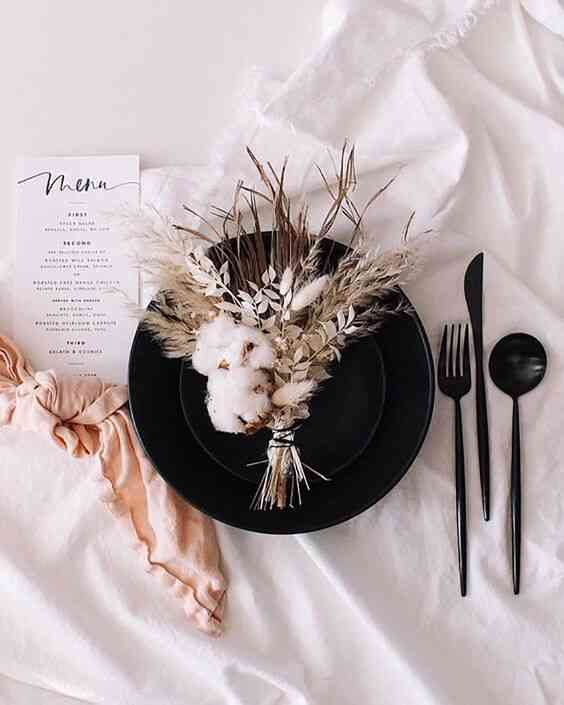 dried floral table centerpieces