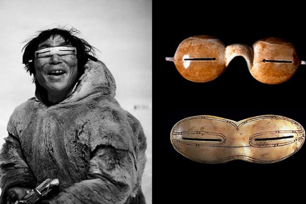 Occhiali da sole nella preistoria
