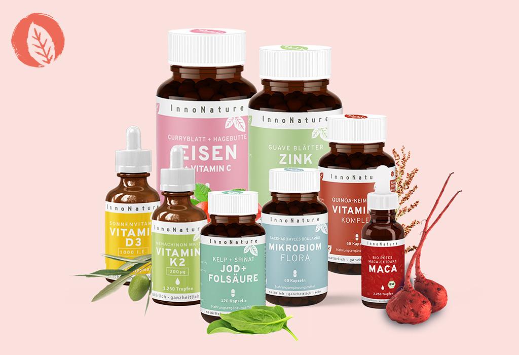 Natürliche Nahrungsergänzungsmitte für Haut, Haare, Nägel und das Immunsystem. Vegan.