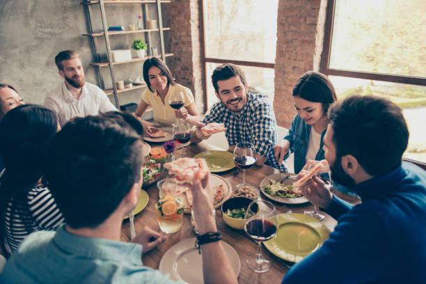 Diner en famille et amis