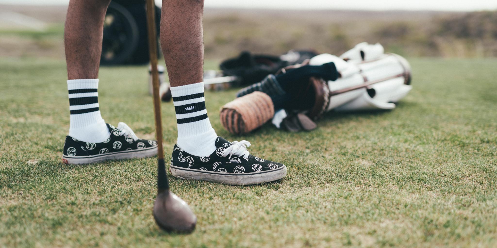 Crown Tube Socks Black