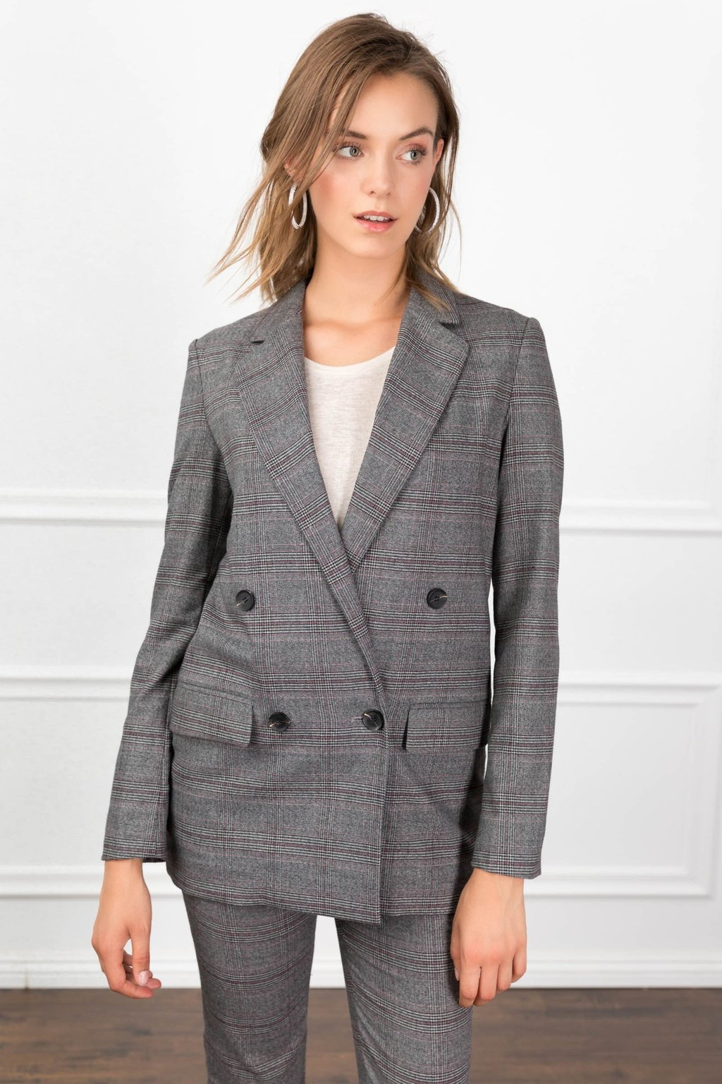 Aubrey Blazer Co-ord Suit Set for women by J.ING women's fashion clothing