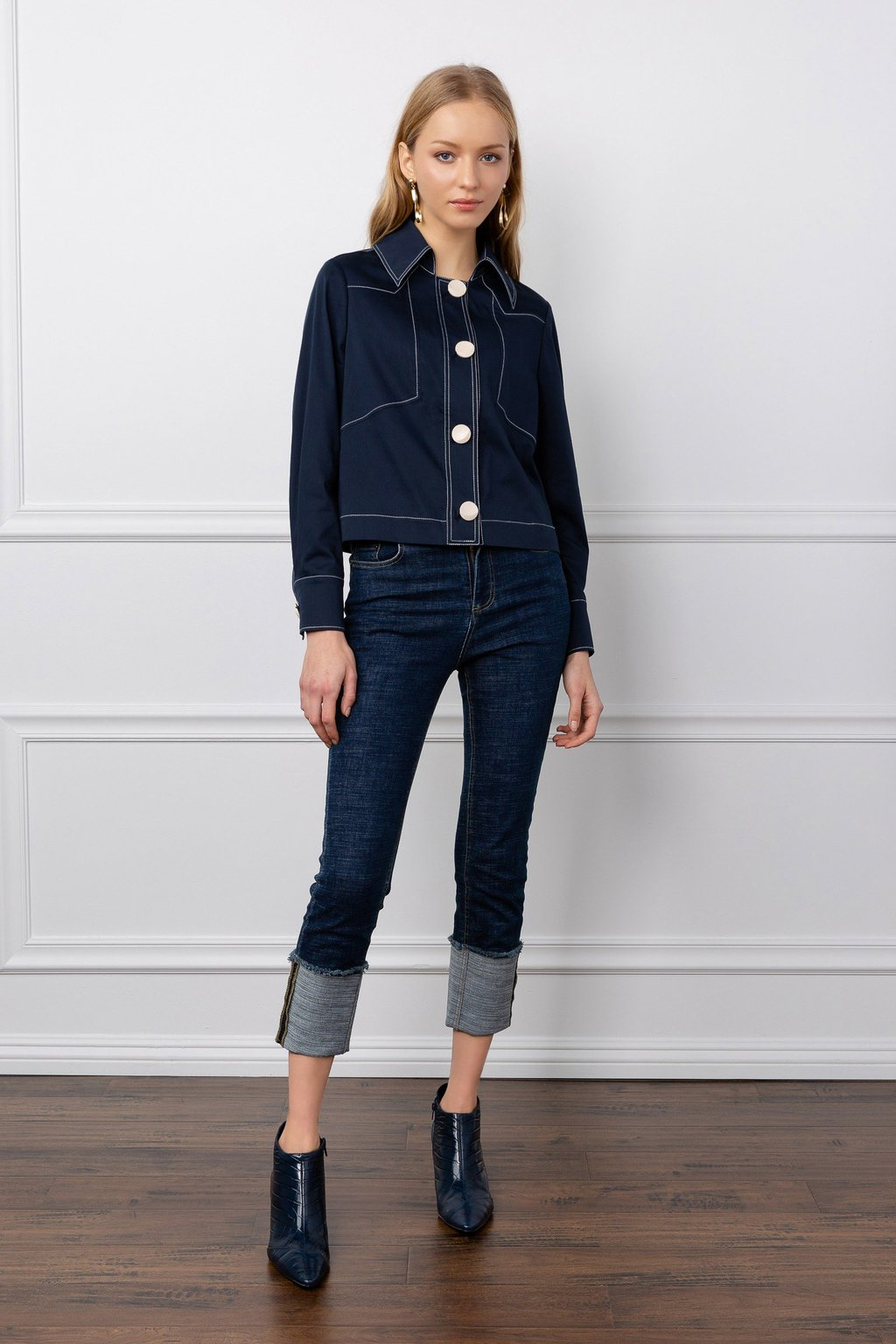 Delilah Denim Blouse by J.ING