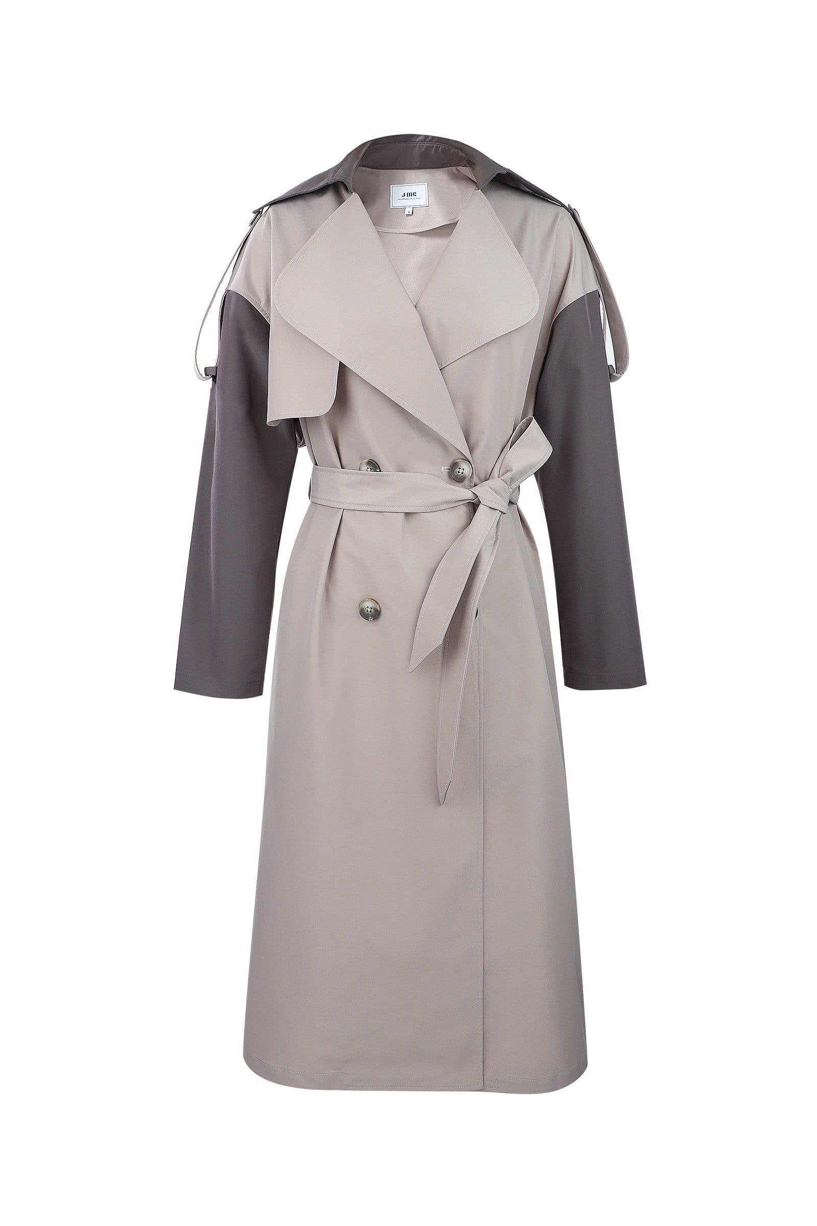 HELSINKI BLUE WOOL Coat by J.ING