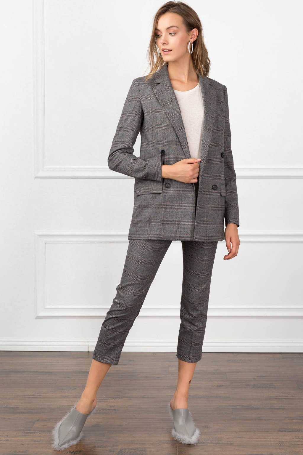 Aubrey Cropped Pant Co-ord suit Set for women by J.ING women's fashion clothing