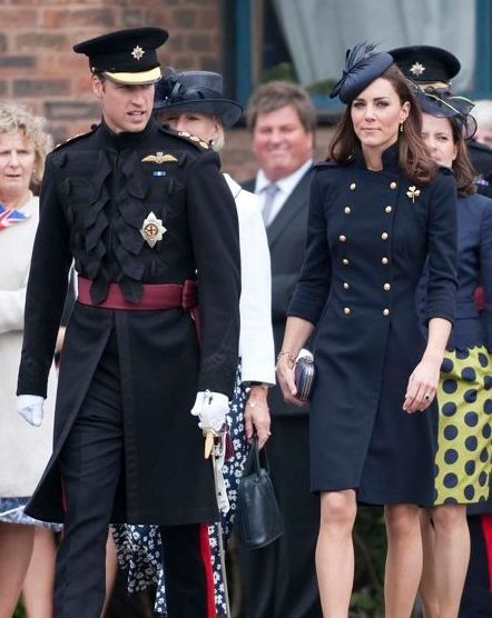 Kate Middleton in navy blue dress