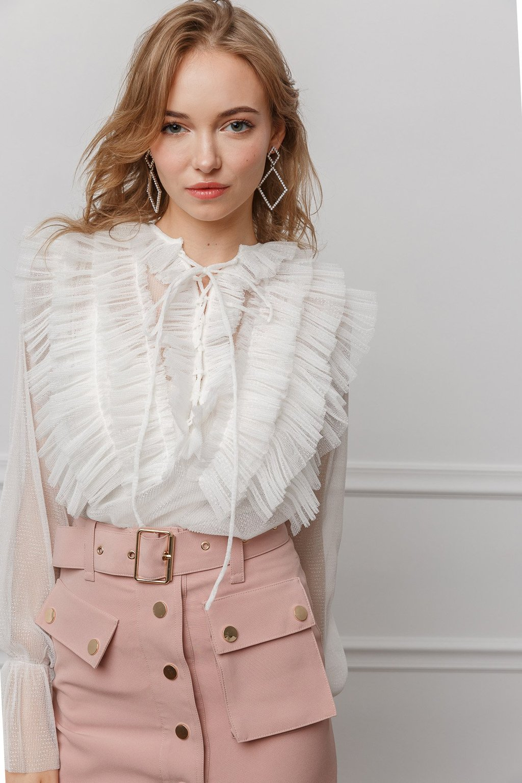 Lex Blouse and Eviee Earrings by J.ING women's fashion and accessories