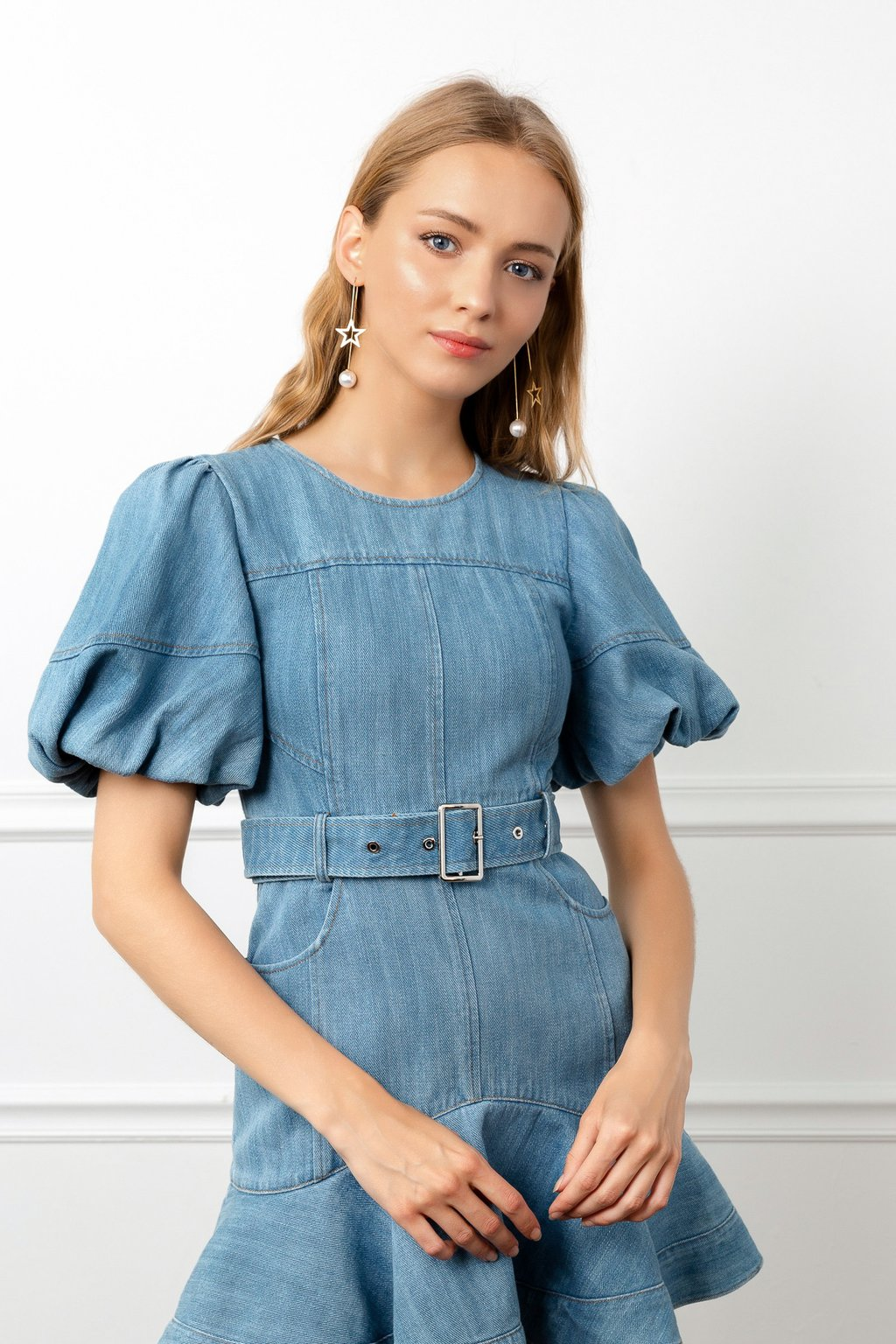 Denim Doll Dress by J.ING La women's fashion