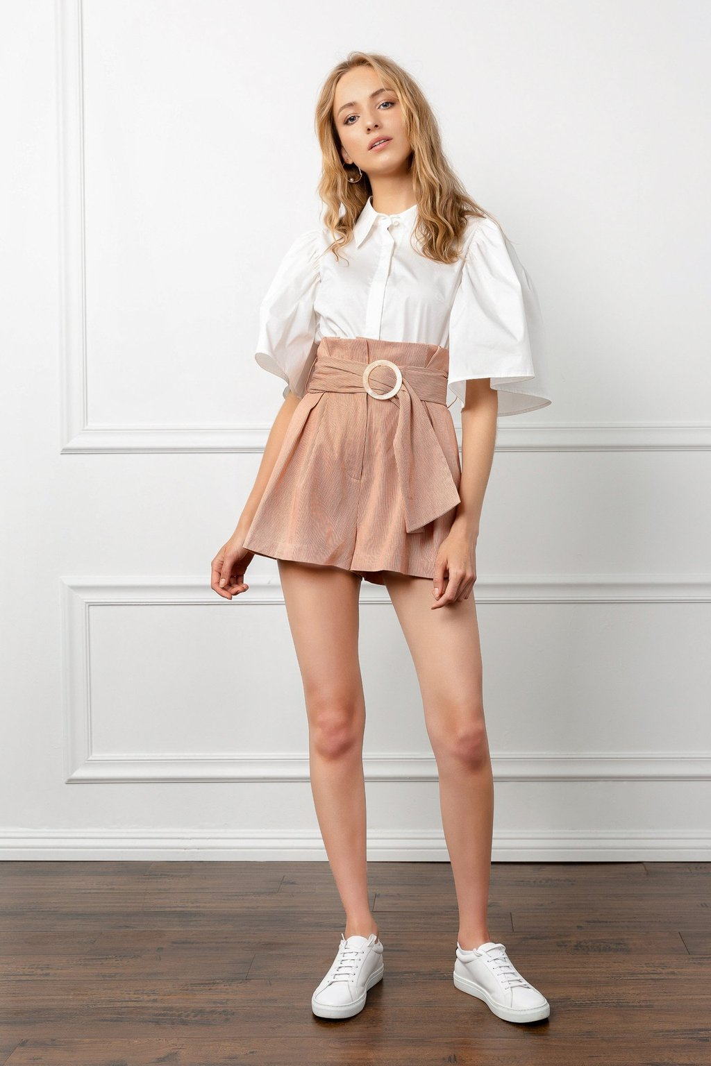 Gabby Belted Coral Shorts by J.ING LA women's fashion