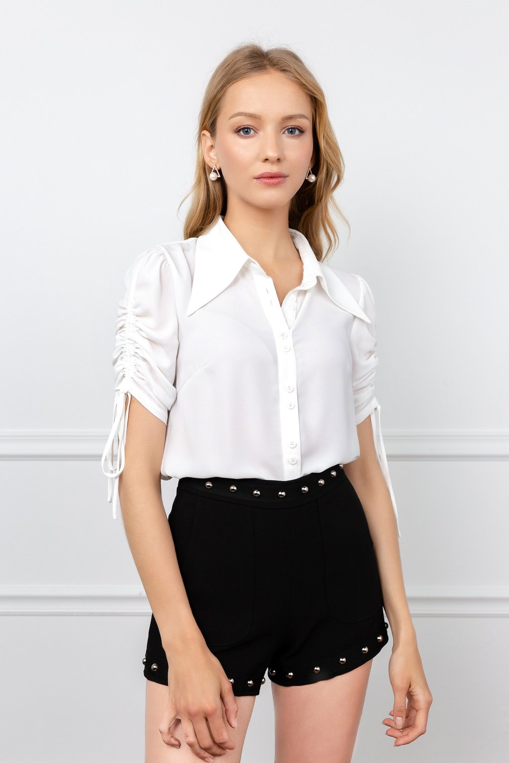 White Literary Blouse by J.ING LA women's fashion