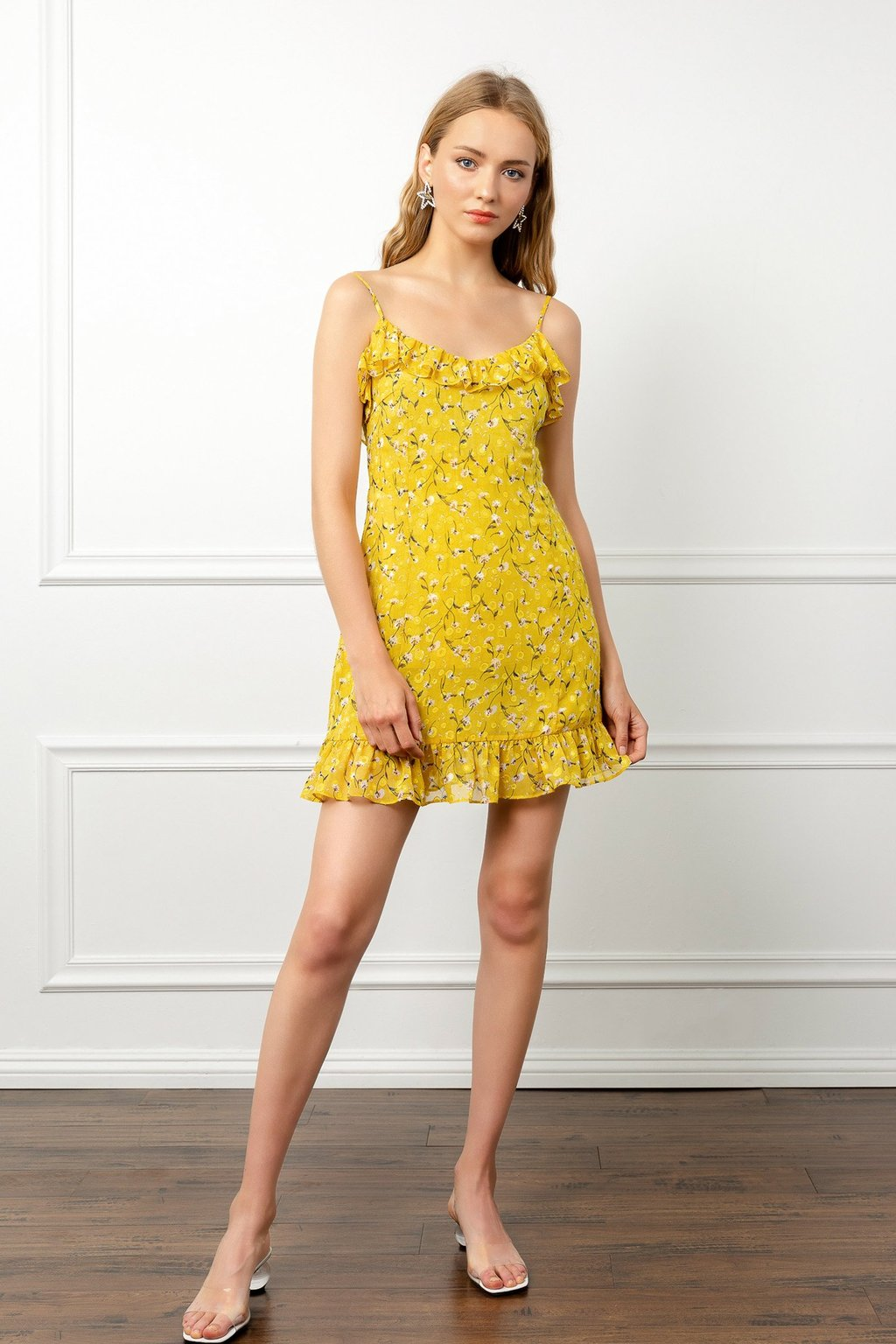 Yellow Summer Dress by J.ING women's fashion clothing
