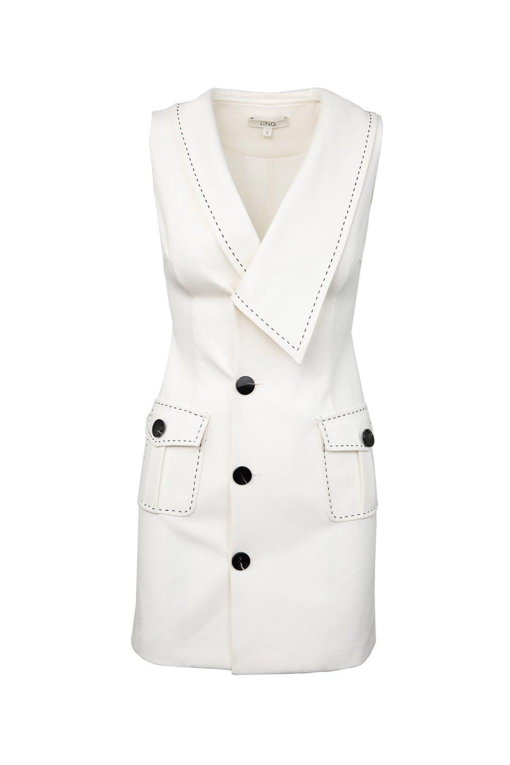 White Sailor Dress by J.ING women's clothing