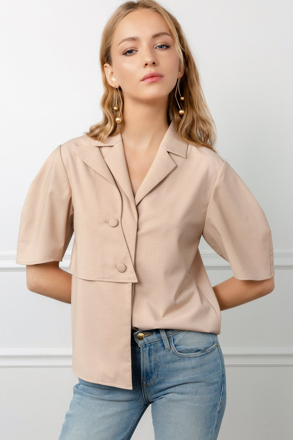 Beige Bounty Utility Style Shirt by J.ING LA women's fashion