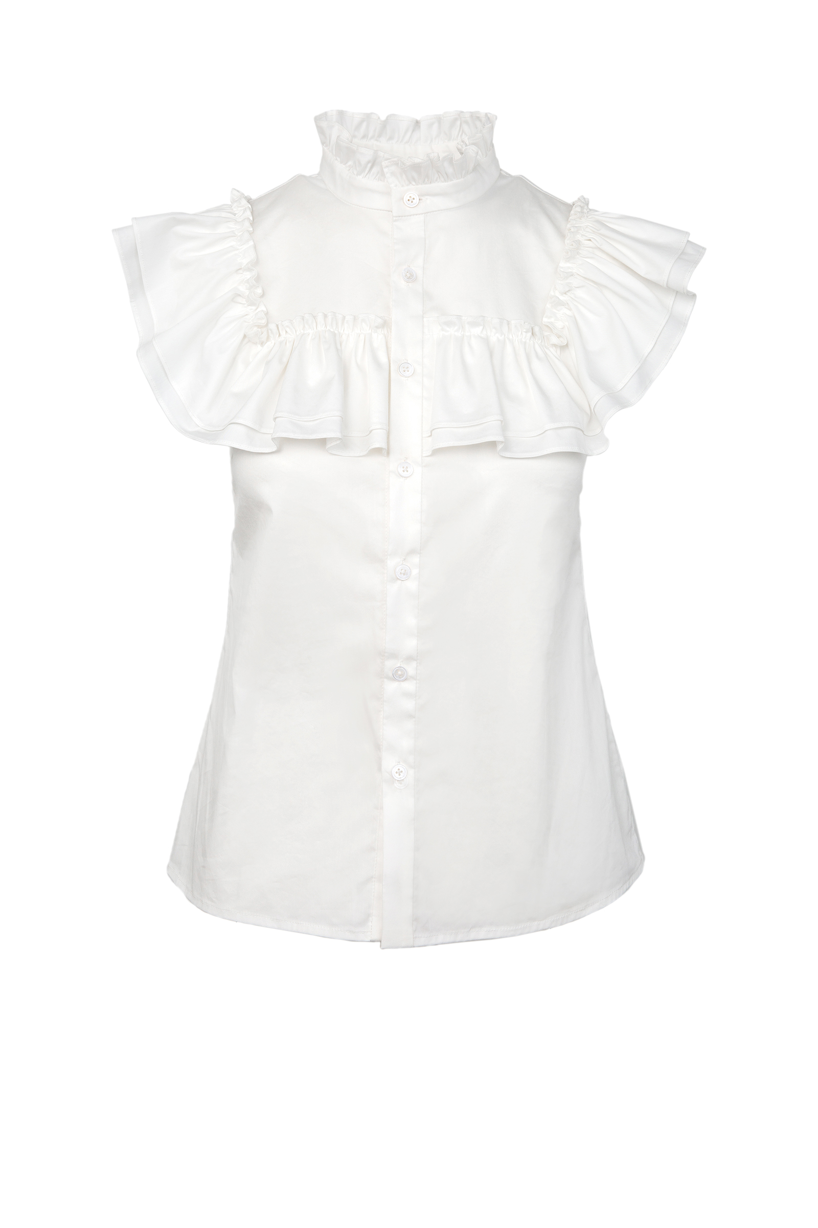Edie Ruffled Blouse by J.ING women's fashion clothing in LA