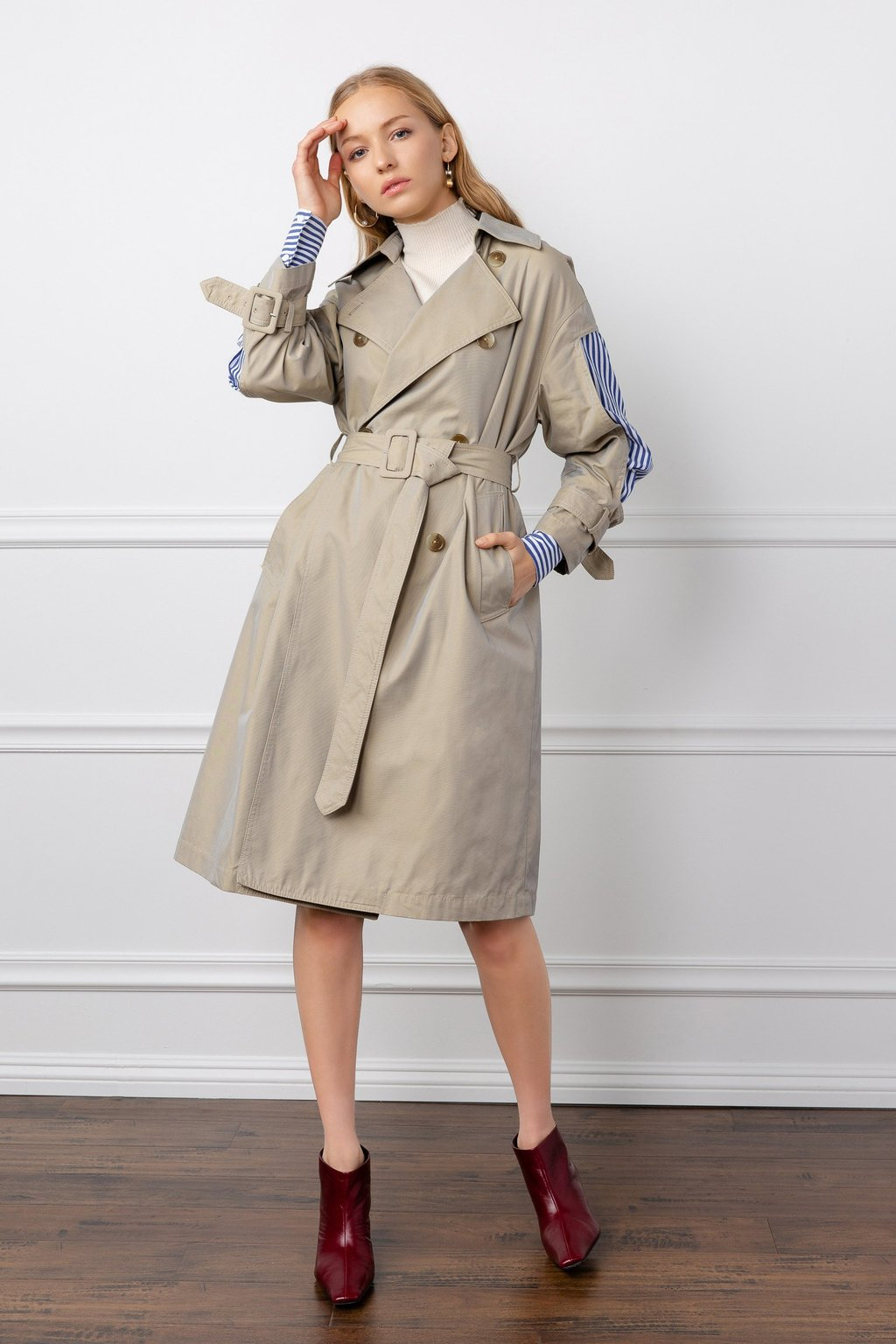 Hildy Trench Coat by J.ING women's fashion clothing