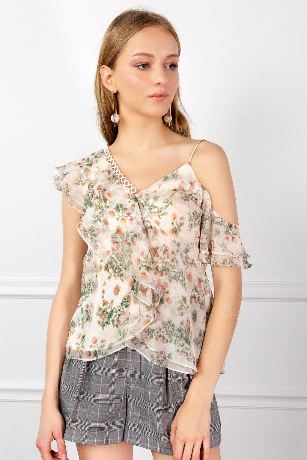 Hazel Floral Blouse by J.ING women's fashion clothing