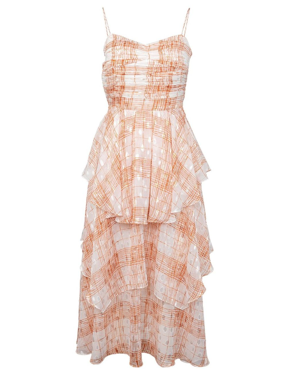 Sleeveless Lux Peach Dress by J.ING women's clothes