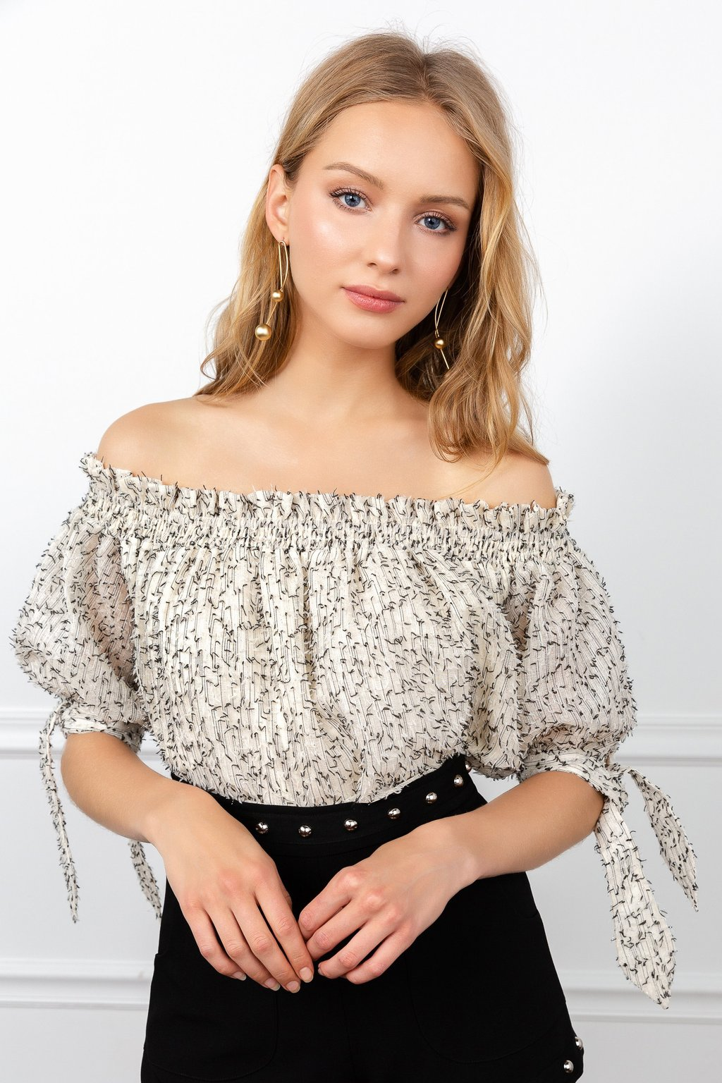 Cathy Cold Shoulder Blouse by J.ING LA women's fashion