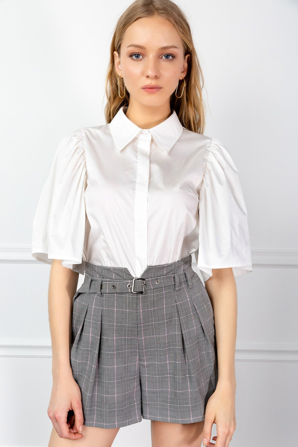 White Lecture Shirt by J.ING LA Women's fashion