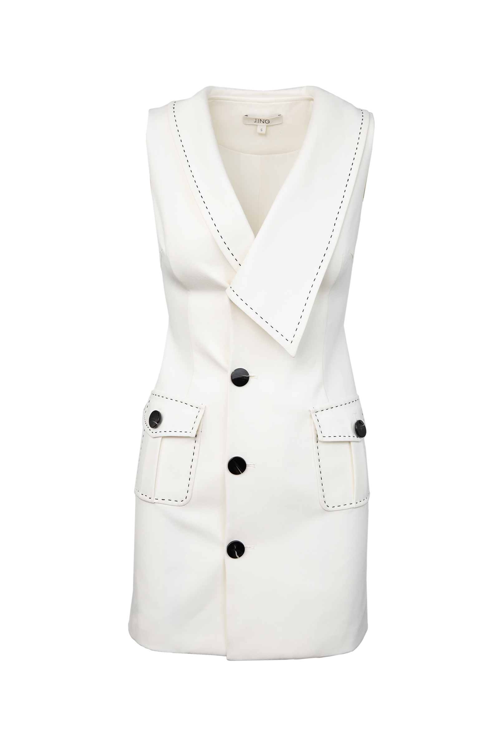 White Sailor Dress by J.ING women's fashion clothing in LA