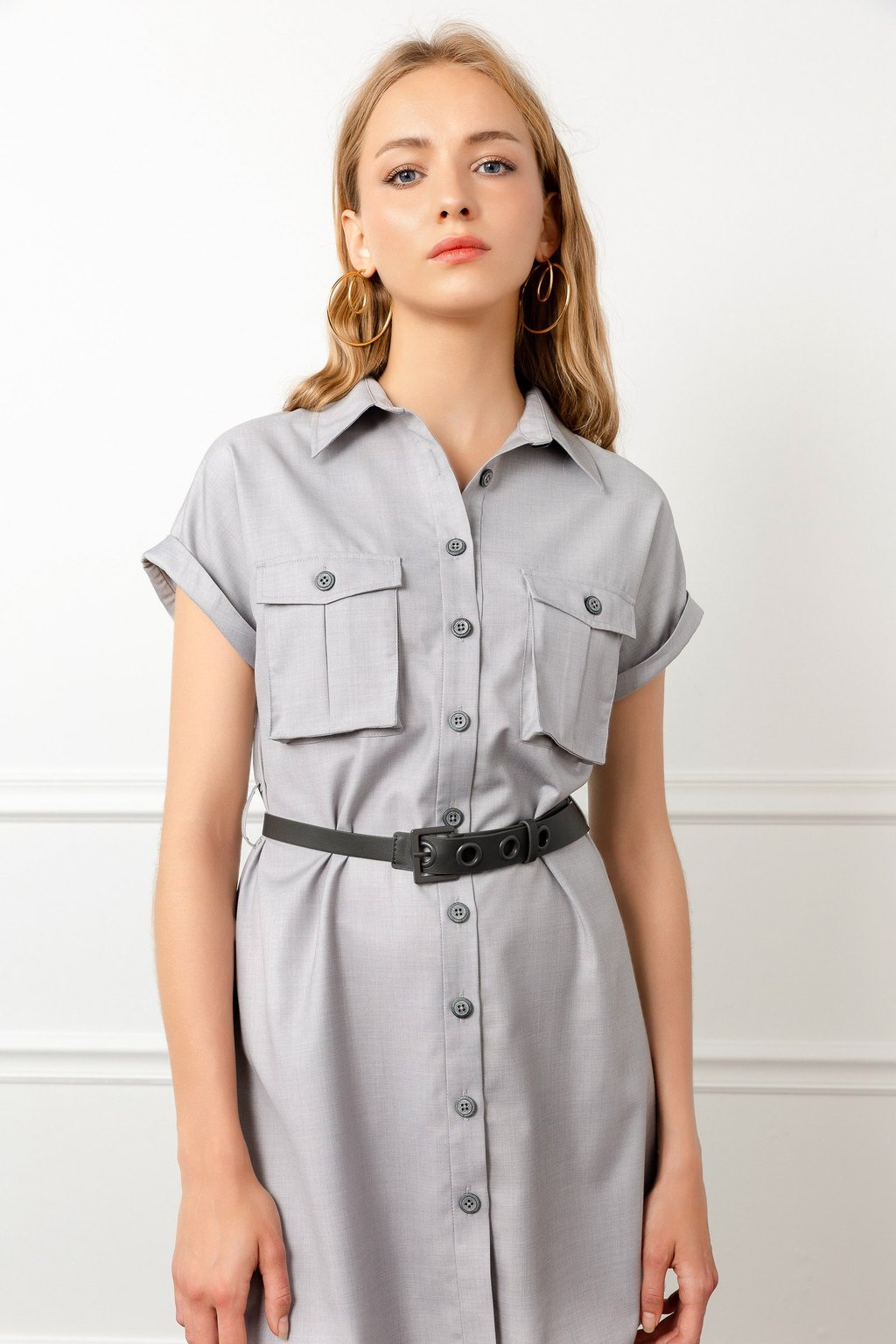 Scout Utility Shirt Dress by J.ING la women's fashion