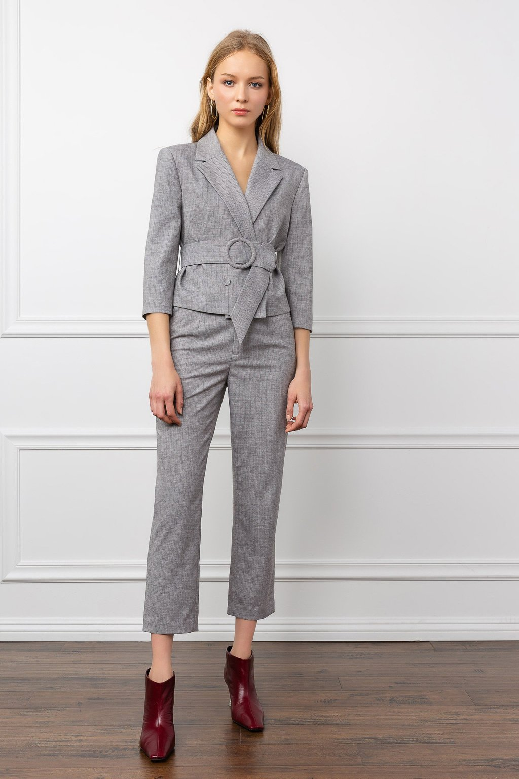 Carmen Blazer Grey suit set co-ord for women by J.ING fashion clothing